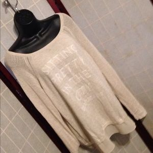 DKNY JEANS Sheer sweater size extra large